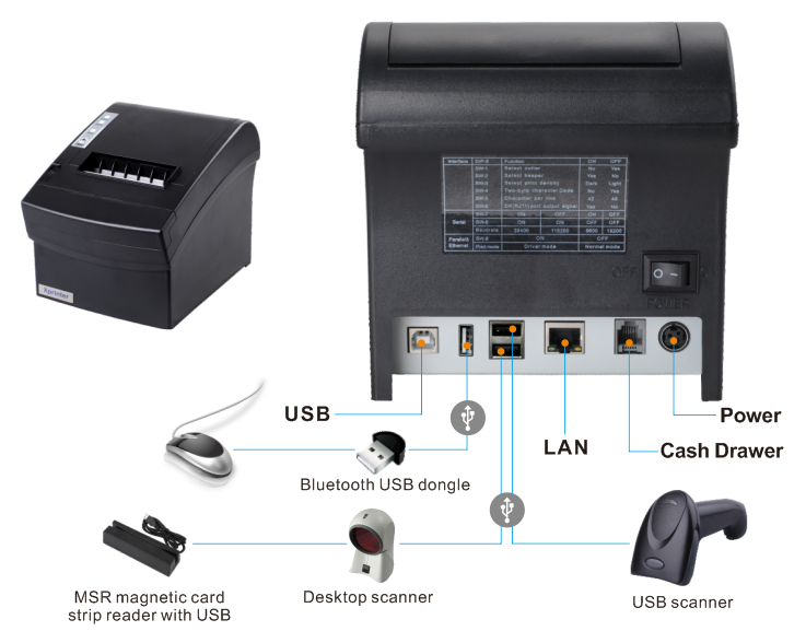 Xprinter multilingual invoice printer design for mall
