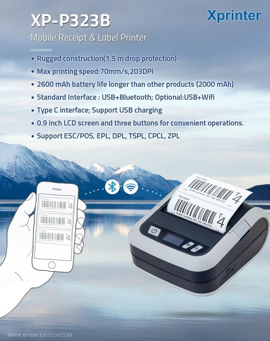 portable usb receipt printer DC 9V for retail Xprinter