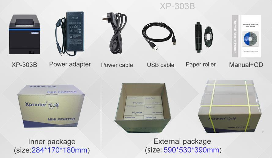 lan thermal printer design for supermarket Xprinter