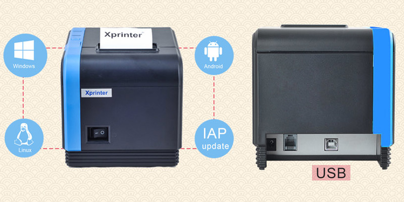 Xprinter monochromatic low cost receipt printer supplier for retail-1