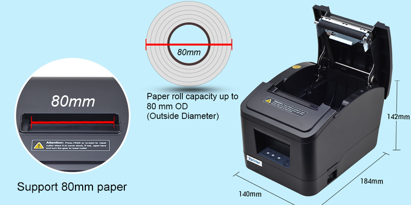 Xprinter multilingual bluetooth wireless receipt printer inquire now for shop-1