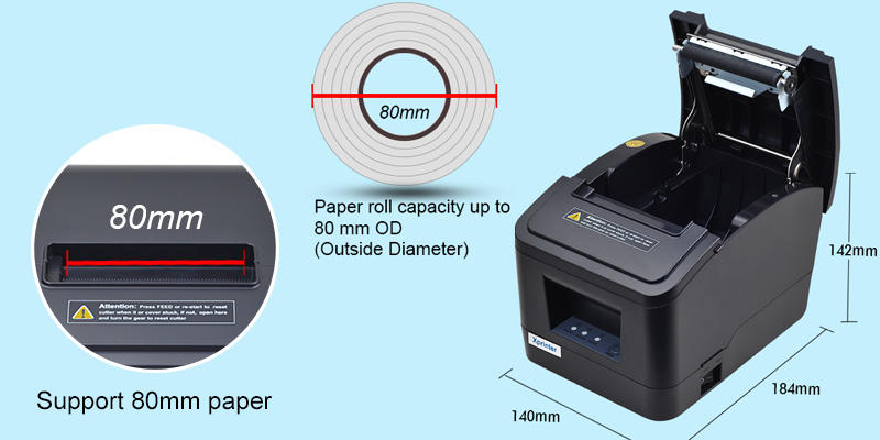 commonly used bill printer 2.5A for catering Xprinter