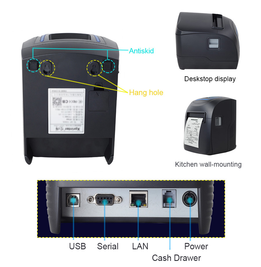 traditional receipt printer best buy xpe260l design for mall-3