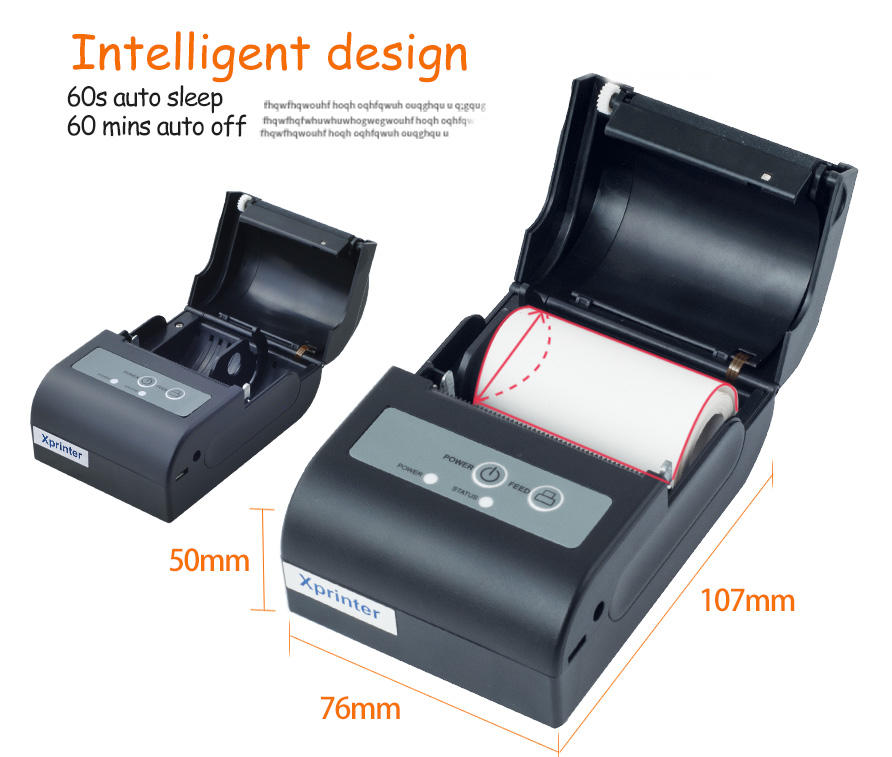Xprinter portable bill printer with good price for tax