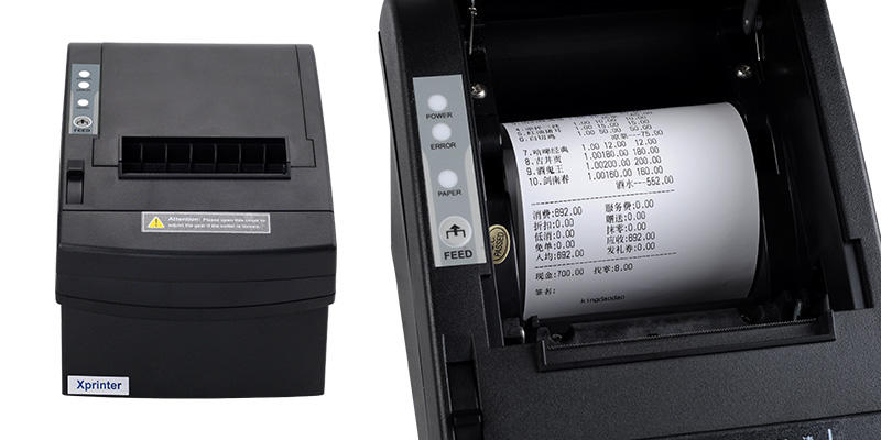 Xprinter multilingual restaurant receipt printer design for store