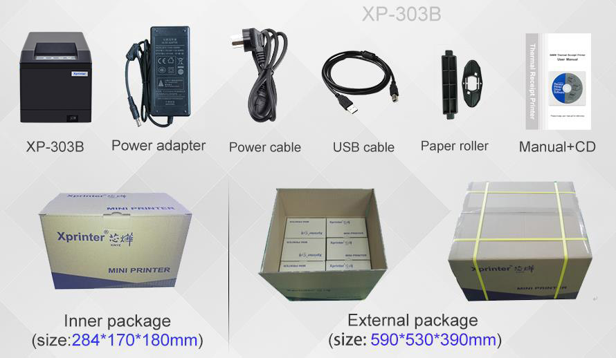 Xprinter durable 80 thermal printer factory for post-3