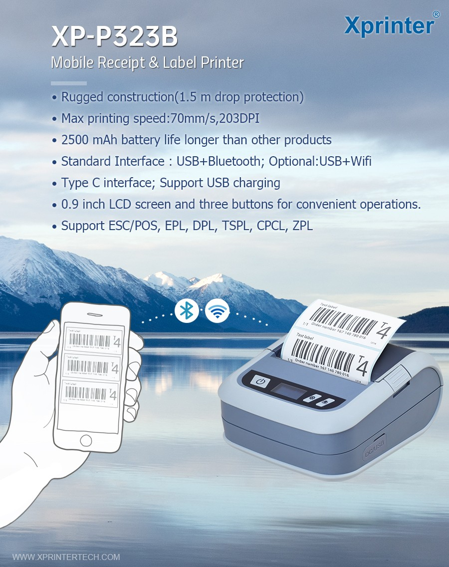 Xprinter long standby label receipt printer customized for store-3