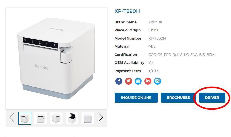 Xprinter printer page