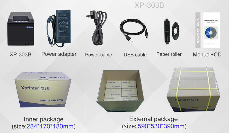 Xprinter professional pos printer 80mm design for storage-3